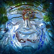 Face In Glass Poster