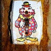 Faded Clown Poster