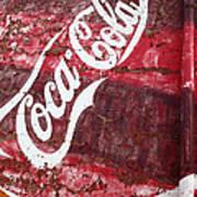 Faded Coca Cola Mural 2 Poster