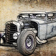 Faded Ford Coupe Poster
