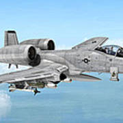 Fairchild A-10 Thunderbolt Poster