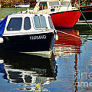 Fairmaid At Mousehole Harbour Poster