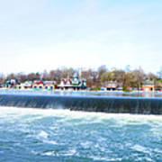 Fairmount Dam And Boathouse Row In Philadelphia Poster