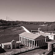Fairmount Waterworks And Dam In Sepia Poster