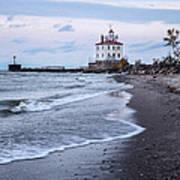 Fairport Harbor Breakwater Lighthouse Poster