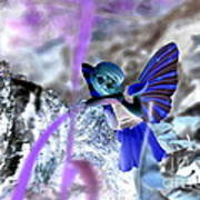 Fairy In The Woods Surreal Poster