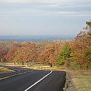 Fall Along The Country Highway 2 Poster