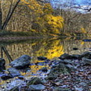Fall Along The Scenic River Poster
