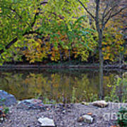 Fall Along The Scioto River Poster