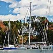 Fall And The Sailboats Poster