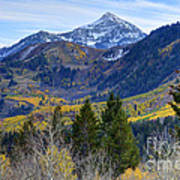 Fall At Cascade Peak And Sundance From Alpine Loop  Poster