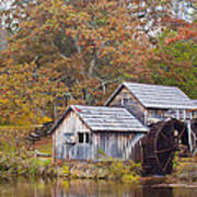 Fall At Mabry Mill Poster