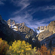 Fall Color Below Middle Palisades Glacier Eastern Sierras California Poster