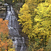 Fall Color Surrounds Chapel Falls On The Michigan Upper Peninsula Poster