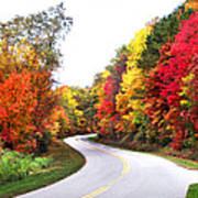 Fall Colors Along The Blueridge Parkway Poster
