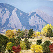 Fall Colors Along The Flatirons Poster