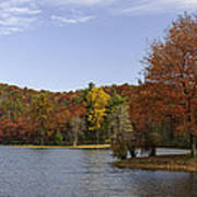 Fall Colors At Sherando Lake Poster