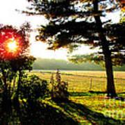 Fall Farm Sunrise 10 10 13 Poster