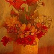 Fall Flower Bouquet Poster