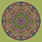 Fall Grass Mandala Poster