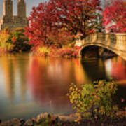 Fall In Central Park Poster