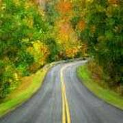 Fall Is Coming Country Road Poster