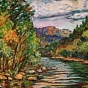 Fall New River Scene Poster