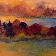Fall On Lake Champlain Poster