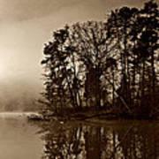 Fall On Melton Hill Lake V Poster
