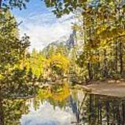 Fall Reflection In Yosemite Poster