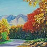 Fall Scene - Mountain Drive Poster