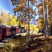 Fall Train Ride New Mexico Poster