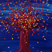 Fall Tree Fantasy By Jrr Poster