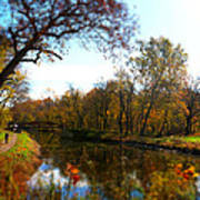 Fall Water Reflections Poster