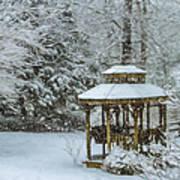 Falling Snow - Winter Landscape Poster