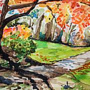 Falling Sun Tree Poster