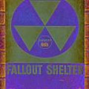 Fallout Shelter Abstract Poster