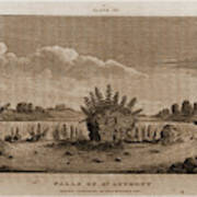 Falls Of St. Anthony, 1821, Narrative Journal Of Travels Poster