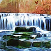 Falls Panorama-features In Groups Rivers Streams And Waterfalls-visions Of The Night Poster