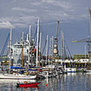 Falmouth Harbour And Docks Poster