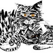 Family Cat Poster