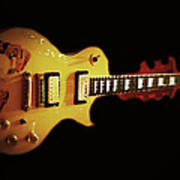 Famous Guitar Poster by Patricia Januszkiewicz