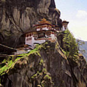 Famous Tigers Nest Monastery Of Bhutan 12 Poster
