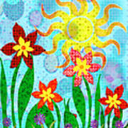 Fanciful Flowers Poster by Shawna Rowe