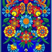 Fancy Blooms Bouquet Poster