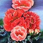 Fantasy Flowers Poster by Janis  Tafoya