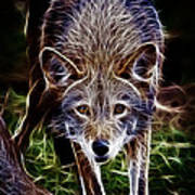 Fantasy Red Wolf Poster