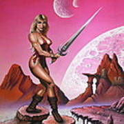Fantasy Warrior Princess Poster