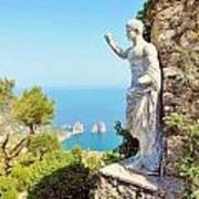 Faraglioni Rocks From Mt Solaro Capri Poster