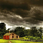 Farm - Barn - Storms A Comin Poster